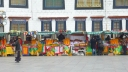 Vendors in Barkhor Square, Lhasa