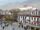 Barkhor Square, Lhasa, seen from Jokhand Temple roof